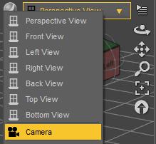 change viewport to camera view in daz studio