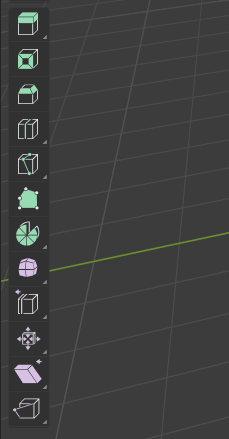 Blender tool bar
