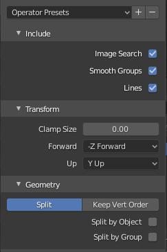 blender settings when importing daz file