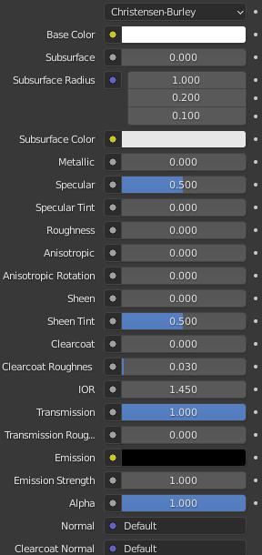 blender glass material settings