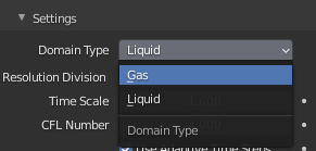 blender smoke simulation domain