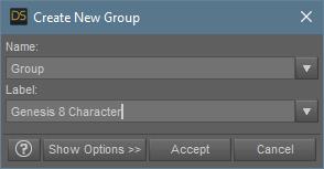 daz3d create new group