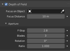 blender depth of field settings