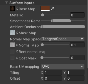 unity hair material parameters color tint  mask map normal map