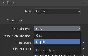 blender domain liquid simulation
