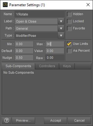 daz3d adding door parameters