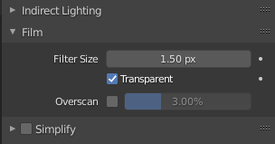 blender transparent background