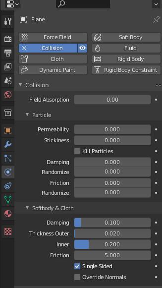 blender cloth settings