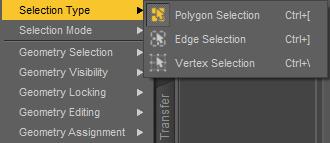 daz3d geometry polygon select