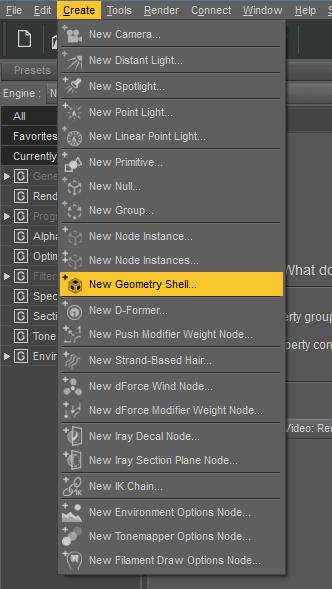 daz3d create geometry shell