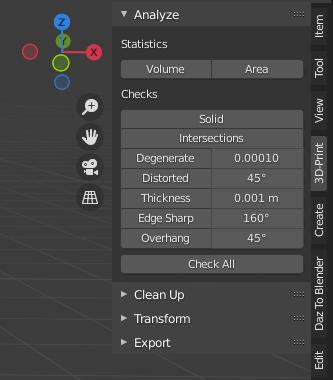 blender 3d printing analyze