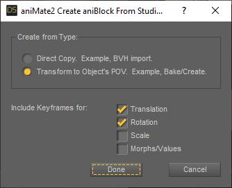 daz studio aniblock from keyframes