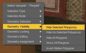 daz hide selected polygons