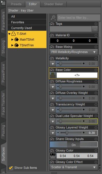 daz studio using custom textures
