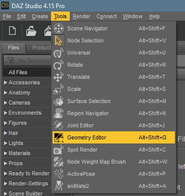 daz geometry editor