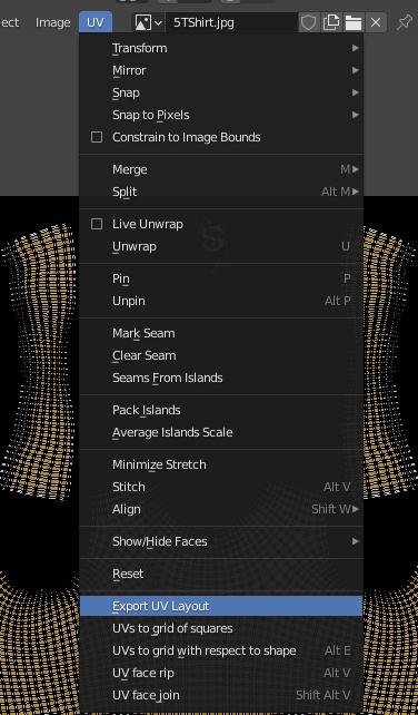 blender export uv layout