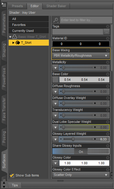 daz surface editor