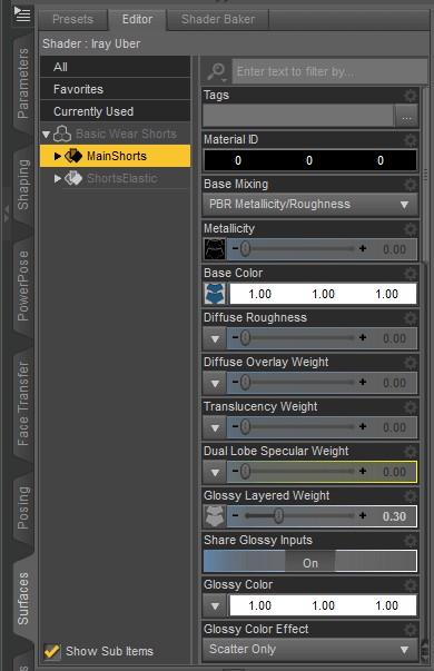 daz surface tab explained in our daz3d texture tutorial
