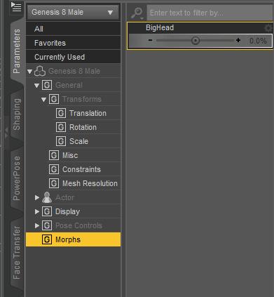 daz3d create custom morph