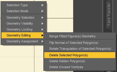 daz studio polygons delete