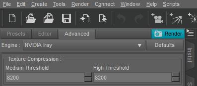 iray advanced texture compression panel daz studio