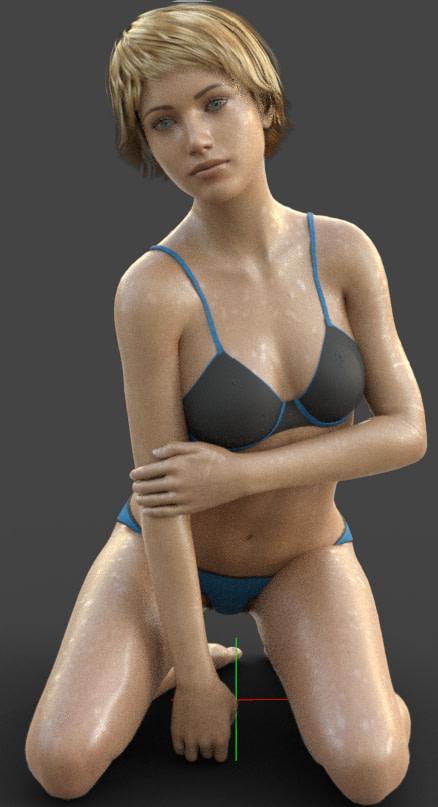 daz wet skin texture