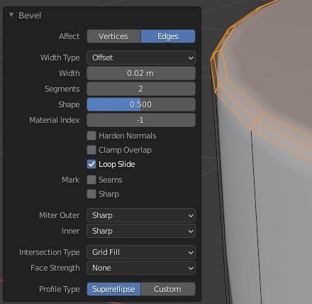 blender subdivision modifier bevel
