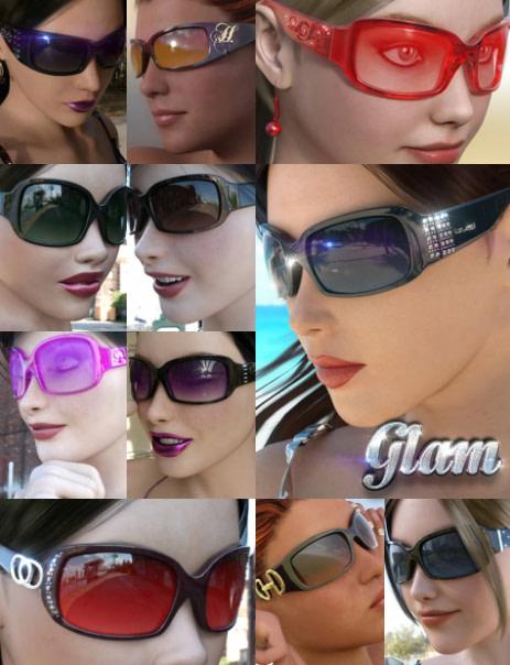 daz3d eyewear pack 3 glam