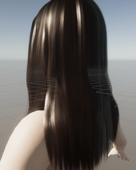 unity scene rose character hair material back view
