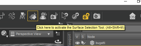 Surface selection tool daz3d