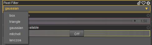 daz sharp rende pixel filter