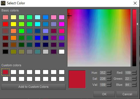 custom color palette daz3d