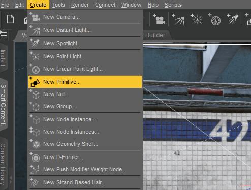 daz 3d create primitive billboard plane
