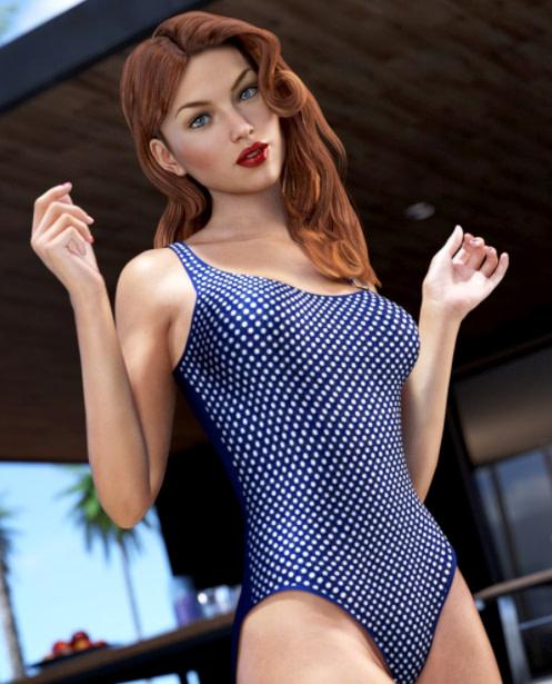 one piece daz bathing suit model