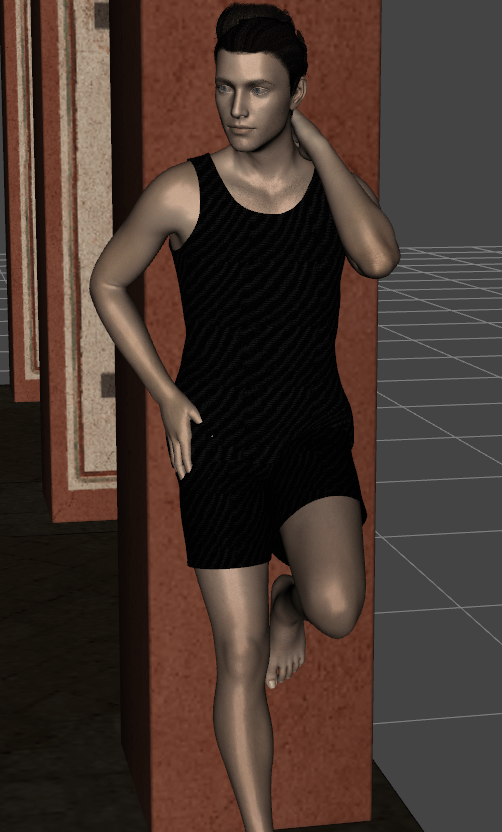 daz studio showing character with a pose problem