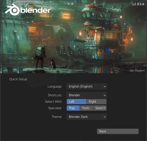 Blender basics quick setup