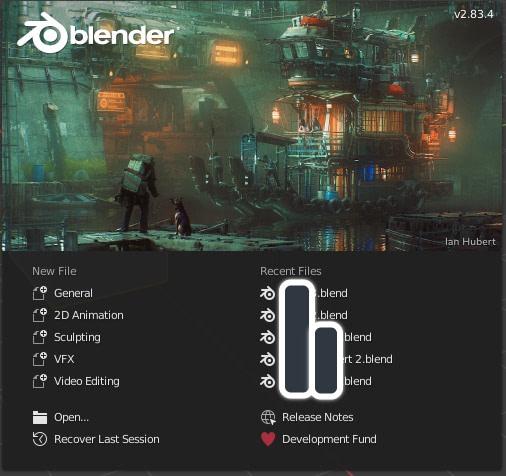 Blender basics splash screen