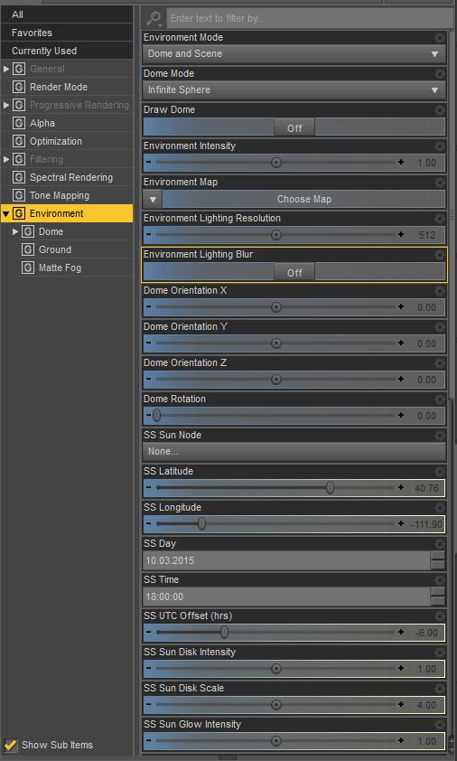 daz3d environment render settings