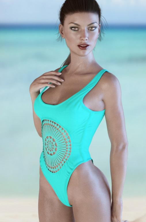 crochet daz3d bathing suit model