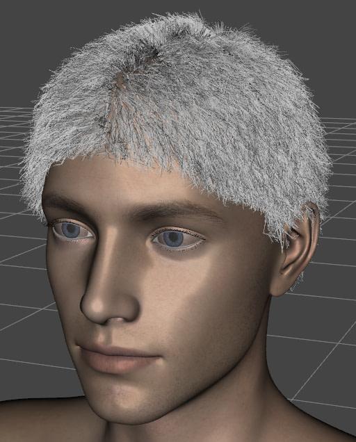daz3d strand based hair visible