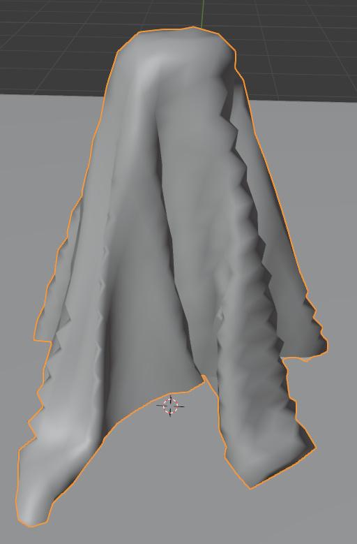 blender cloth simulation self collision