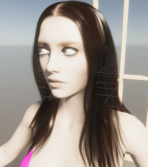 unity scene rose character hair material front view
