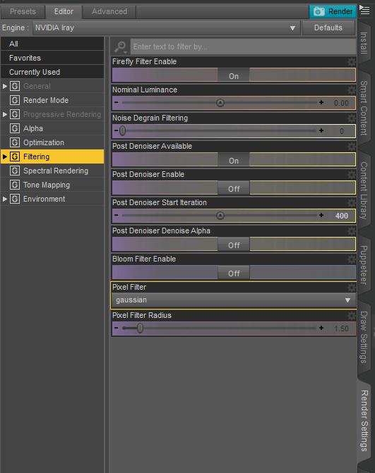 animation render settings in daz studio