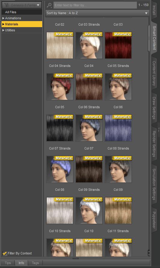 daz studio hair materials