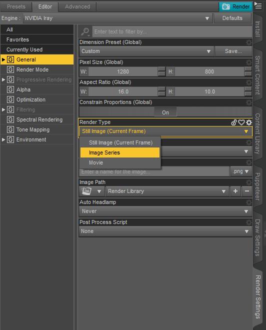 daz animation rendering