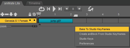 daz to blender bake animations