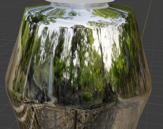 blender reflective material