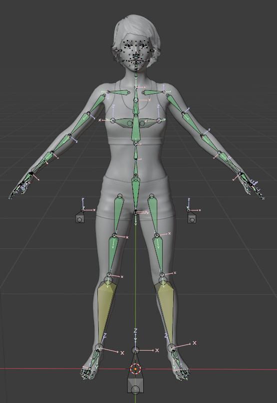 blender genesis 8 figure