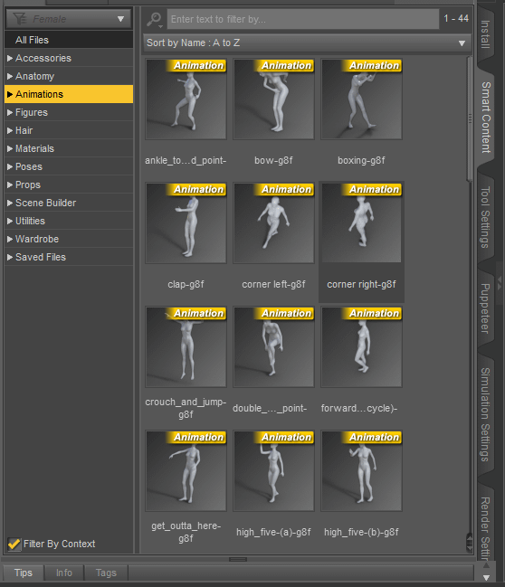 daz animation presets