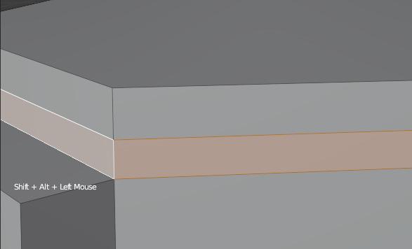 blender selecting face loop